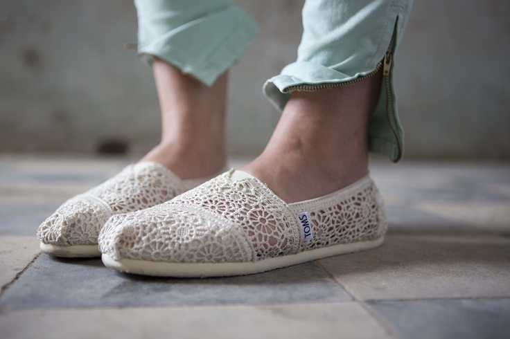 Step into Springtime with TOMS Crochet Classics! www.toms.com/natural-crochet-women-s-classics // #give #OneforOne #crochet // $58
