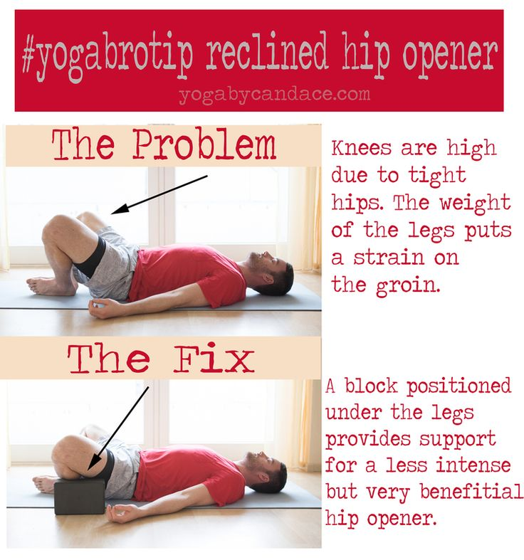 Yoga for Men: Common problem in this reclined hip opener and how to fix it.