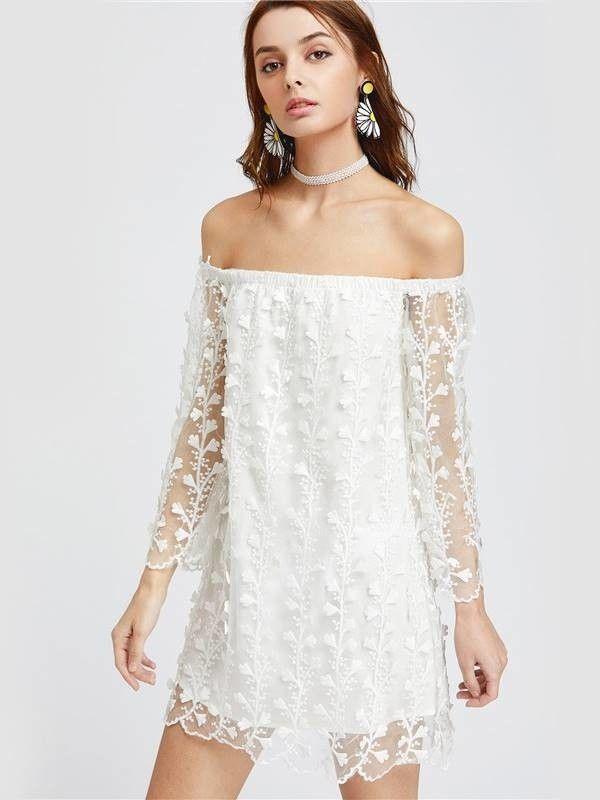 Vestido de Renda Decote Cigana - Compre Online | DMS Boutique