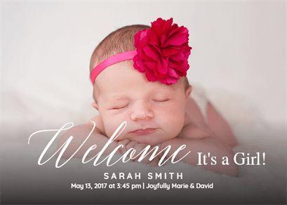 online baby announcement templates