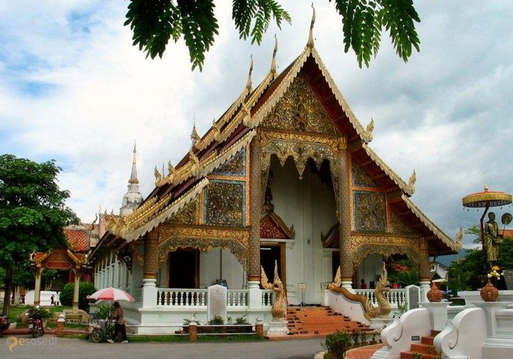 Ват Пхра Сингх – #Таиланд #Чиангмай (#TH_50) Главный храм города http://ru.esosedi.org/TH/50/1000476163/vat_phra_singh/