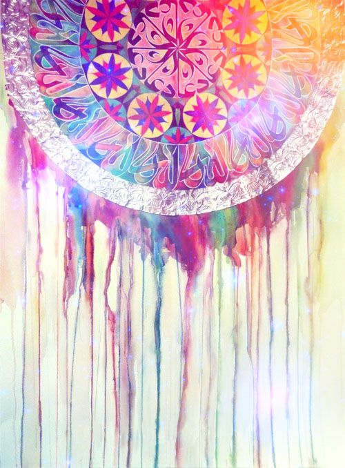 dream catcher dripping painting