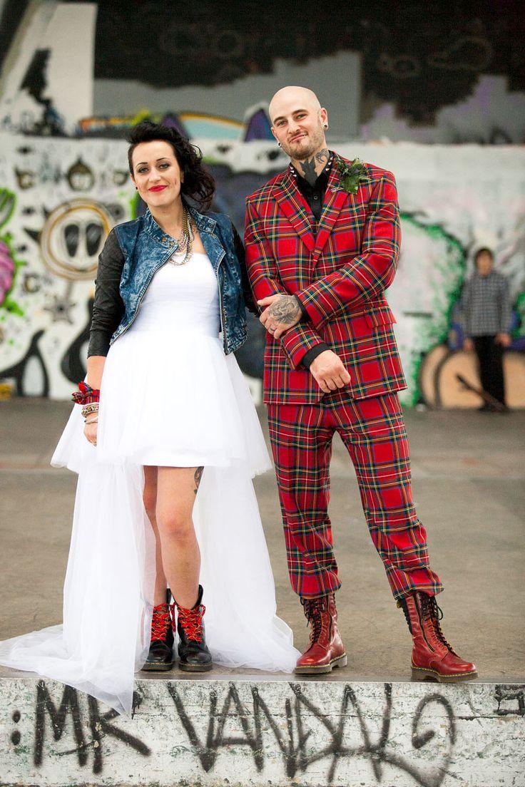 Old Skool Punk Rock Wedding: Kat & Gary