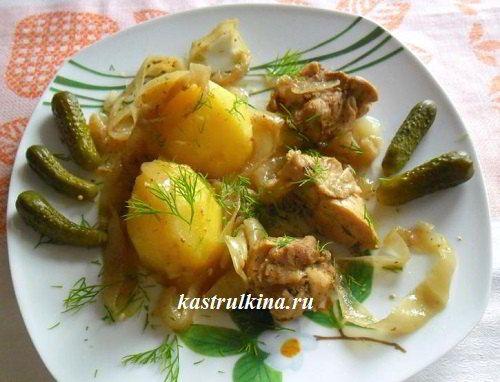 Куриный окорочок в огурцовом маринаде (рецепт для микроволновки)