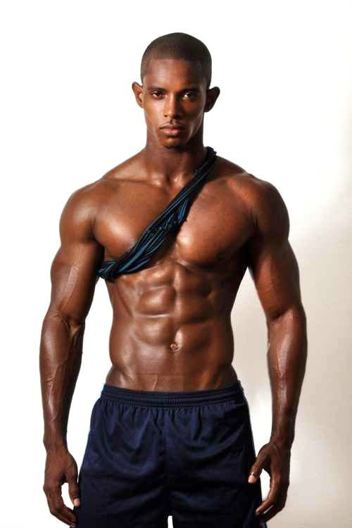 black guy abs