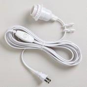 White Electrical Cord Swag Kit.. world market 9 dollars
