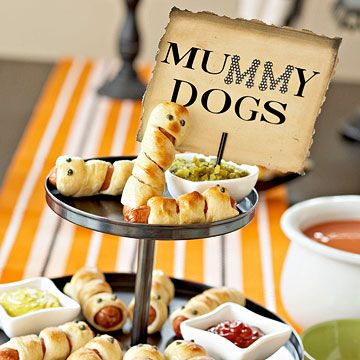 Spooky Food Labels - actually I was pinning for the mummy dogs @Laura Jayson Kelly Takagi
