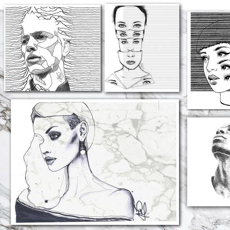 SELECTED WORKS. 2  .  .  #art #artwork#artist #janofarkasart #contemporary #contemporaryart #graphicdesig #portrait #dope #modernart #instart #surrealism #illustration
