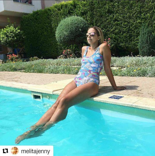 Gorgeous Jenny Melita by the #swimming #pool of Civitel Attik!  #AttikAthens #cityhotel #cityresort