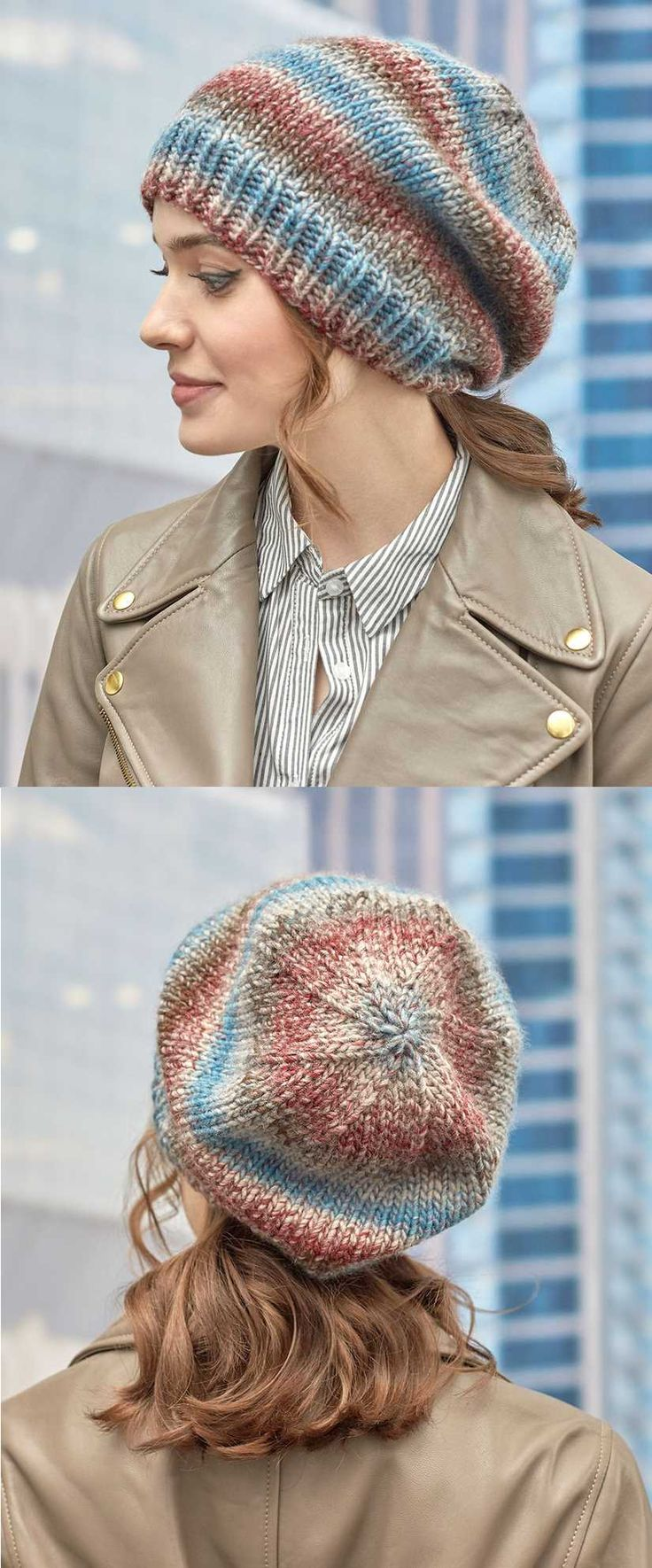 Padrões de tricô grátis para Standby um chapéu Slouch