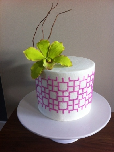 orchid cake  By carol74 on CakeCentral.com
