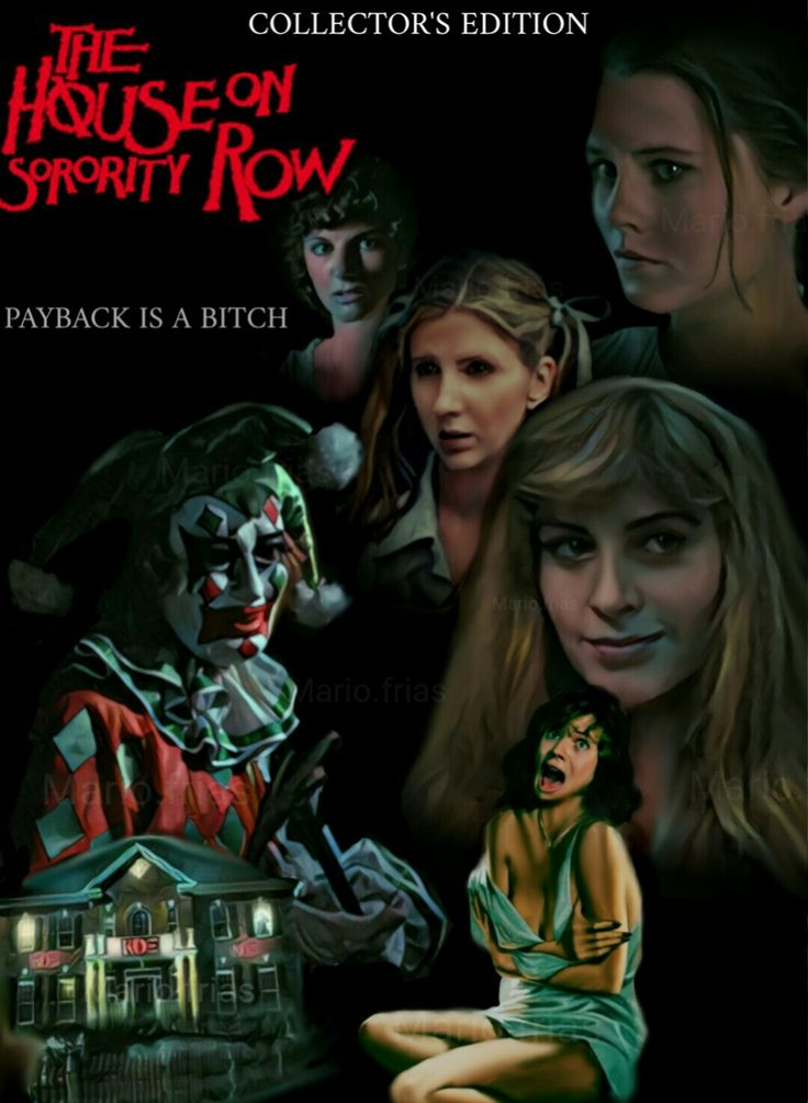 The House On Sorority Row Horror Movie Slasher Poster Fan Made Edit