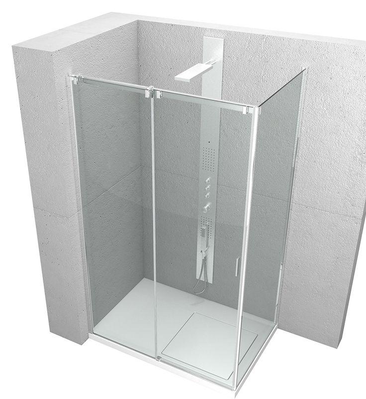 #Serie8000 di @vismaravetro la #cabinadoccia scorrevole sintesi dell'esperienza.  www.gasparinionline.it - #shower #italiandesign #interiors #bagno #arredamento #weloveit #dailyinspire