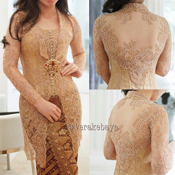simple cute colour of kebaya