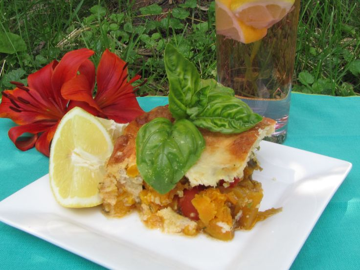 Butternut Squash,Cherry Tomatoes and Cheese Casserole