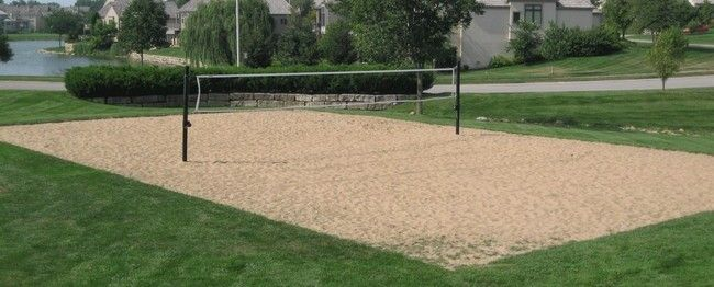 Backyard Sand Volleyball Court : Sand Volleyball Court, Backyard Ideas, Beach Volleyball Court, House