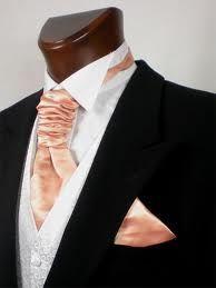 peach cravat morning suit - Google Search