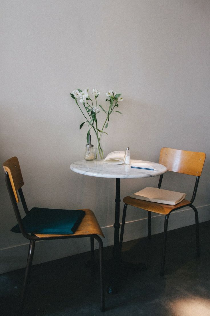 Cafe table and chairs design - Tinsel In Antwerp Via 70percentpure Be