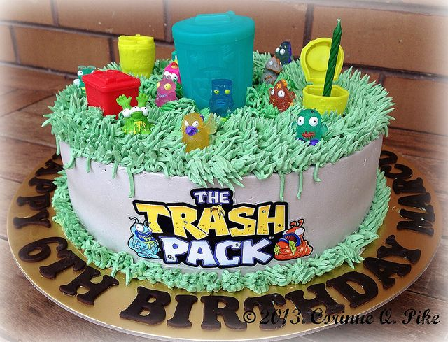 Trash pack-themed cake by pike.corinne, via Flickr