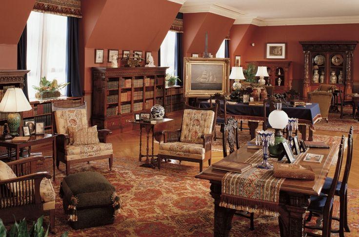 Biltmore Estate, Asheville NC -- third floor living hall. 4 acre floor space estate. That's Vanderbilt style.