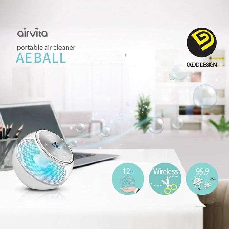 Amazon.com - new Airvita AEBALL Portable Wireless Anion Air Purifier Cleaner DC5V AC100~220V -