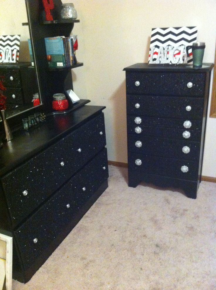 diy glitter furniture. diy glitter dresser bedroom furniture makeover diy