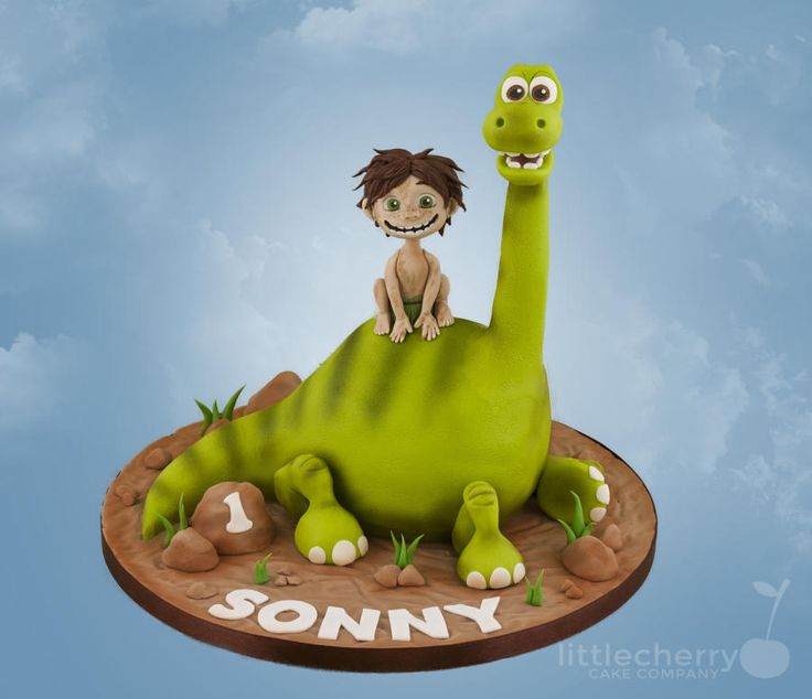 Arlo and Spot, The Good Dinosaur - Cake by Little Cherry - For all your cake decorating supplies, please visit craftcompany.co.uk