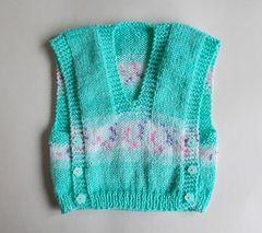 Ravelry: Melika self-patterning yarn baby vest top pattern by marianna mel