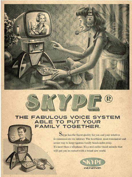 "Anuncio ""retro"" de Skype."