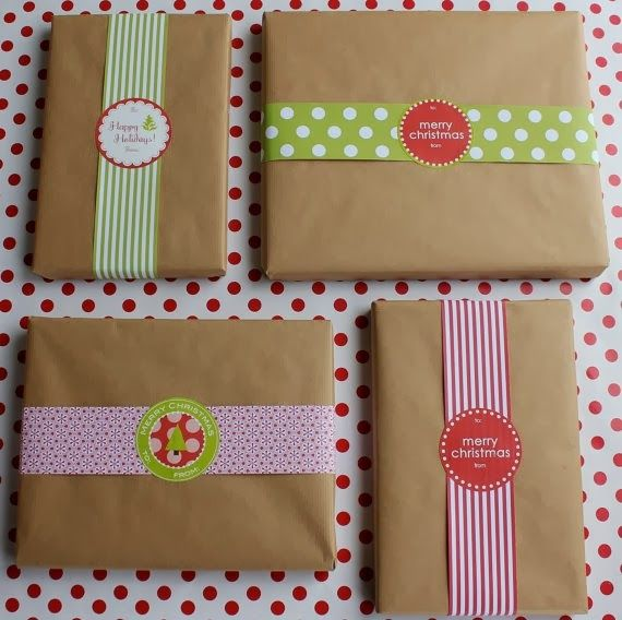 Home Made Modern: Craft of the Week: Wrapping Ideas and a Printable-Palooza