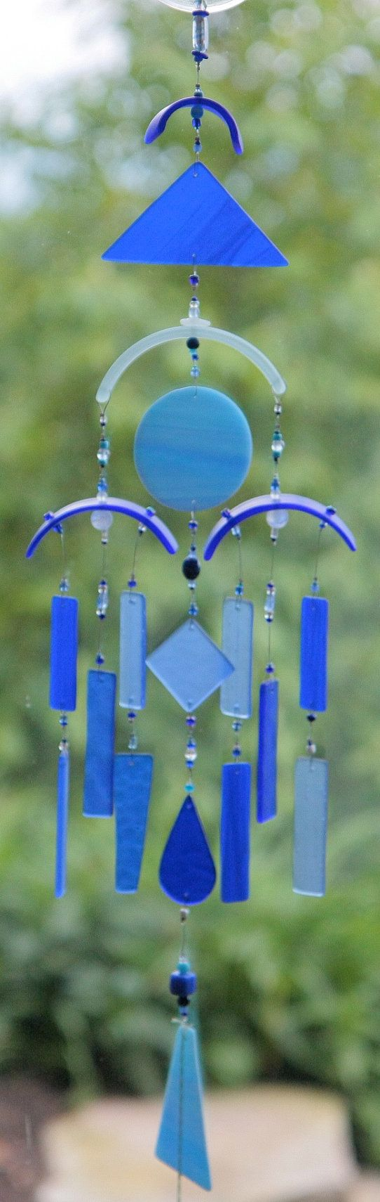 Recycled Glass Wind Chime