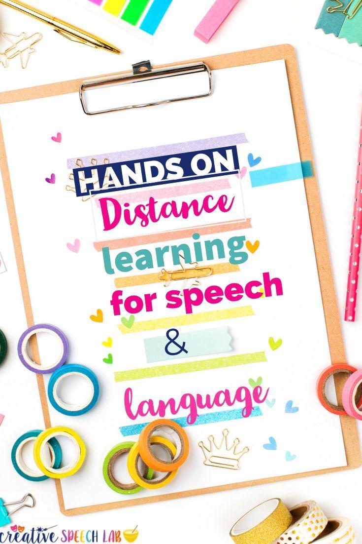 5 Hands On Distance Learning Activities For Speech Language Skills Creative Speech Lab Speech And Language Distance Learning Language Therapy Activities