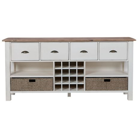 Providore 4 Drawer Console   Freedom Furniture and Homewares