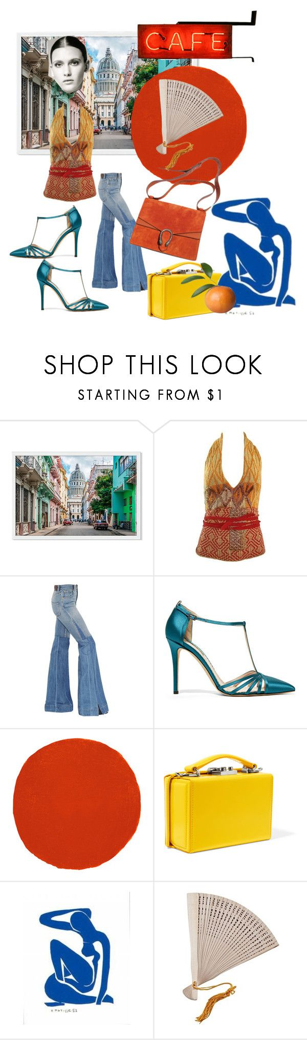 """Untitled #171"" by gina-stewart75 on Polyvore featuring Dries Van Noten, Roberto Cavalli, SJP, Christian Louboutin, Mark Cross and Pier 1 Imports"