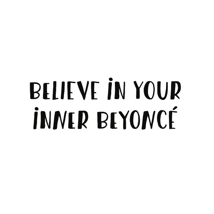 Believe in your inner Beyonce | Slay | Quote | White | More on Fashionchick.nl