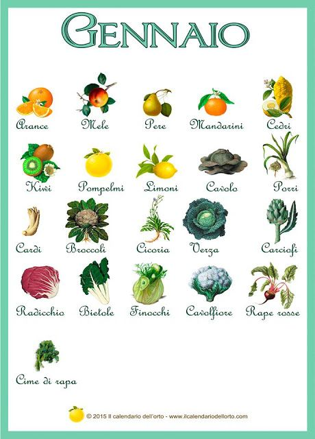 Briciole di Sapori: Gennaio... il calendario della natura