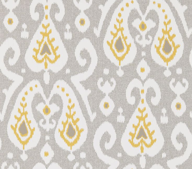 Java Pewter/ Chartreuse Wallpaper By Sanderson