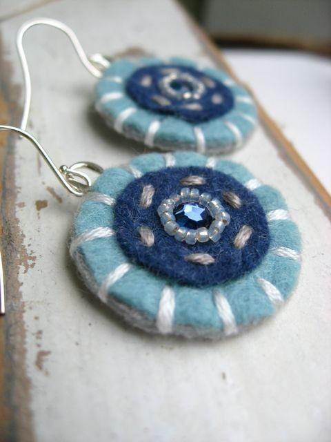 Felt earrings
