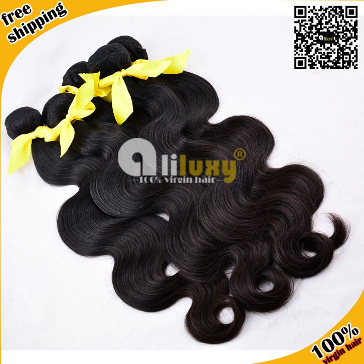 6A+TOP QUALITY,Unprocessed Peruvian Virgin Hair Body Wave 8-28 inch, 3pcs/lot .Best human hair extension free shipping