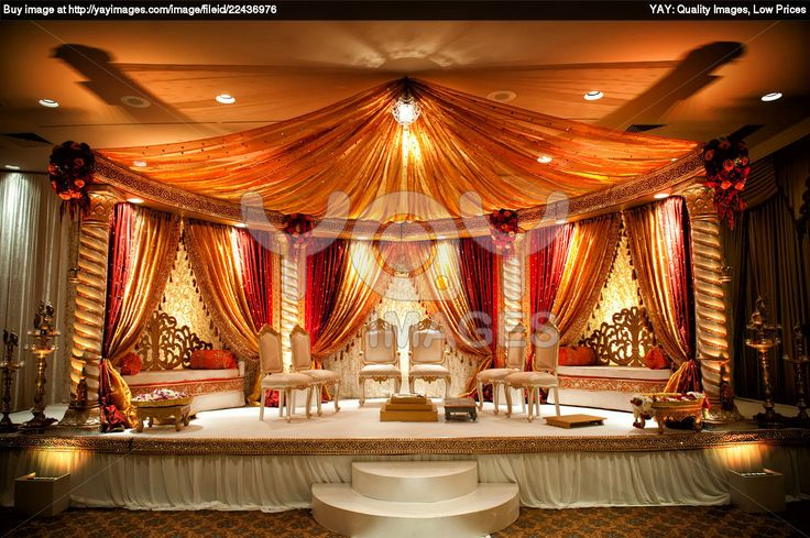draping around and in the back is needed for a open mandap (Instead of the benches in the back, you could have chairs for the bridal party like you wanted)