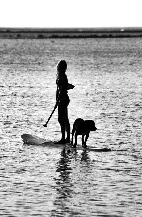 Stand-up paddling, it's so much fun and you feel it in every muscle, great workout... my dog maggie loved it.