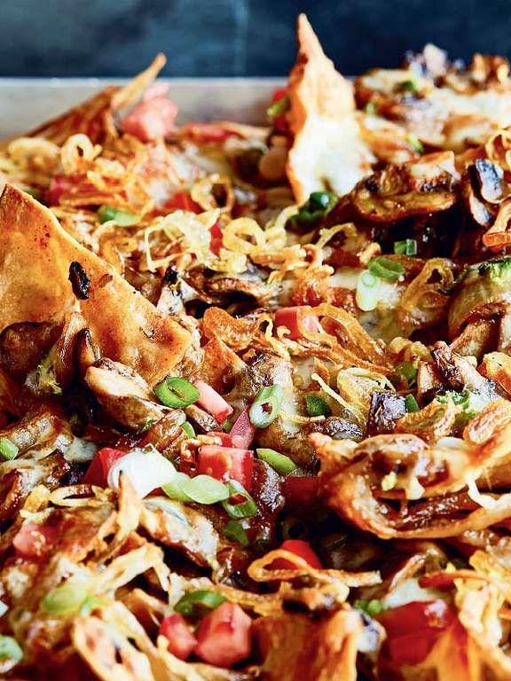 mushroom and crispy shallot nachos stuffed mushrooms whole food recipes chrissy teigen recipes pinterest