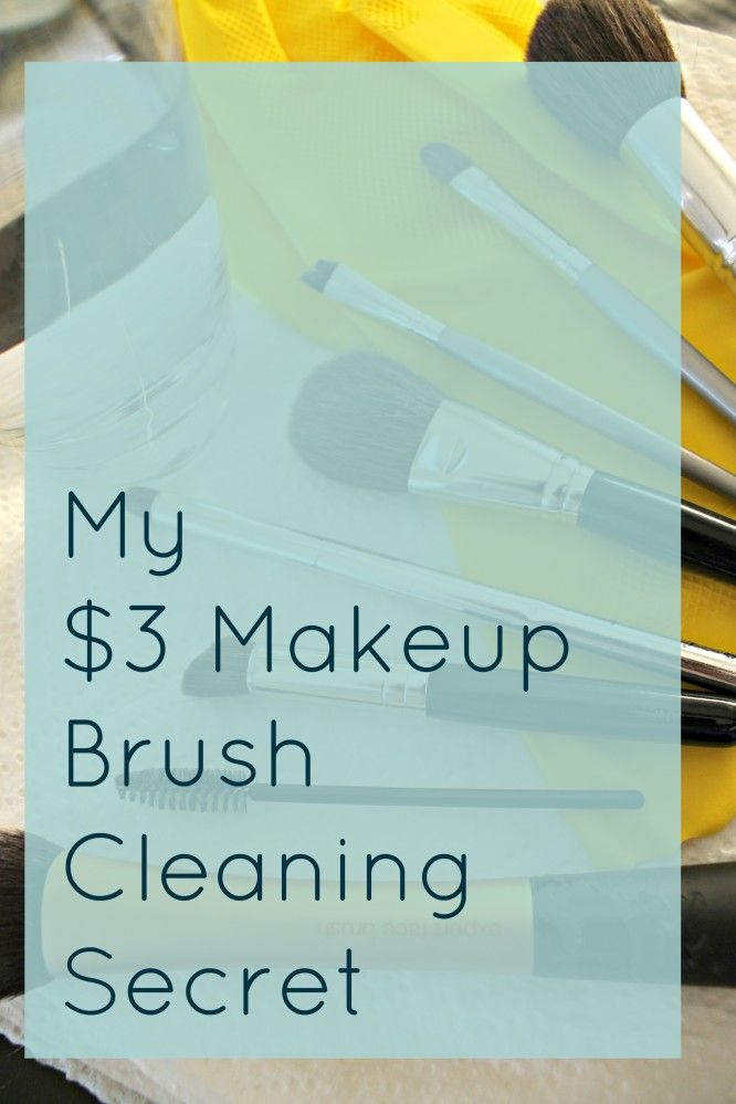 The easiest, cheapest, and effective way of how to clean your makeup brushes that won't ruin your hands and your wallet from FrySauceandGrits.com!