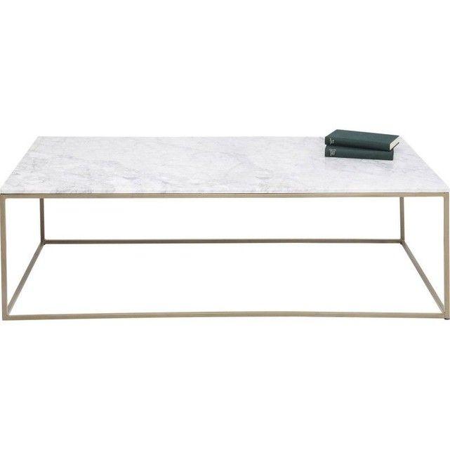 Table Basse Key West 120x60cm Table Basse Marbre Table Basse Table Basse Marbre Blanc