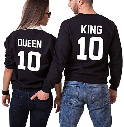 Ziwater P/ärchen Sweatshirt 2er Set Partner Pullover als Geschenk Valentinstag Symbolische Liebe T-Shirt