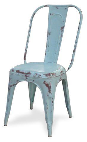 Vintage Duck egg blue Tolix chair