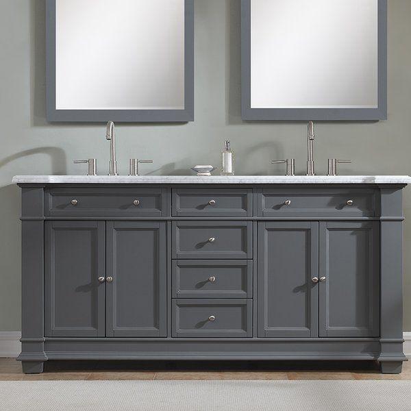 Riccardo 72 Double Bathroom Vanity Set Black Vanity Bathroom Bathroom Vanities Without Tops Double Vanity Bathroom