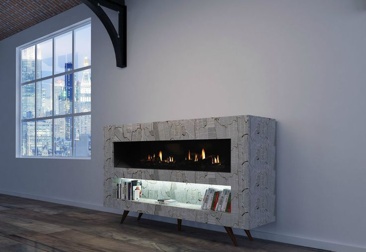 Electric fireplace / contemporary / closed hearth / free-standing VINTAGE GlammFire