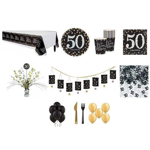 50 Yaş Siyah Parti Seti