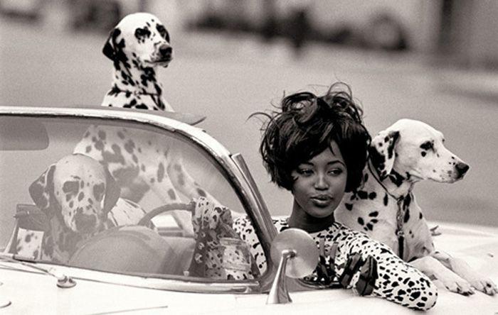 Peter Lindbergh Naomi Campbell in Geoffrey Beene, Vogue, June 1990